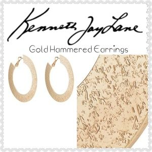 🌼NEW🌼Kenneth Jay Lane Hammered Hoop Earrings